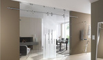 стъклени плъзгащи врати солидни