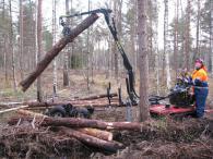 Дърводобивна техника - щипка за трупи