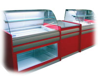 Витрина хладилна червена