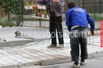 полагане на настилки от шлайфан бетон