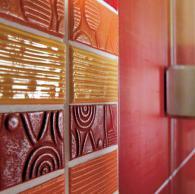 плочки за баня и декори модел: Текстил Ред