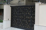 плътни портални врати от ковано желязо