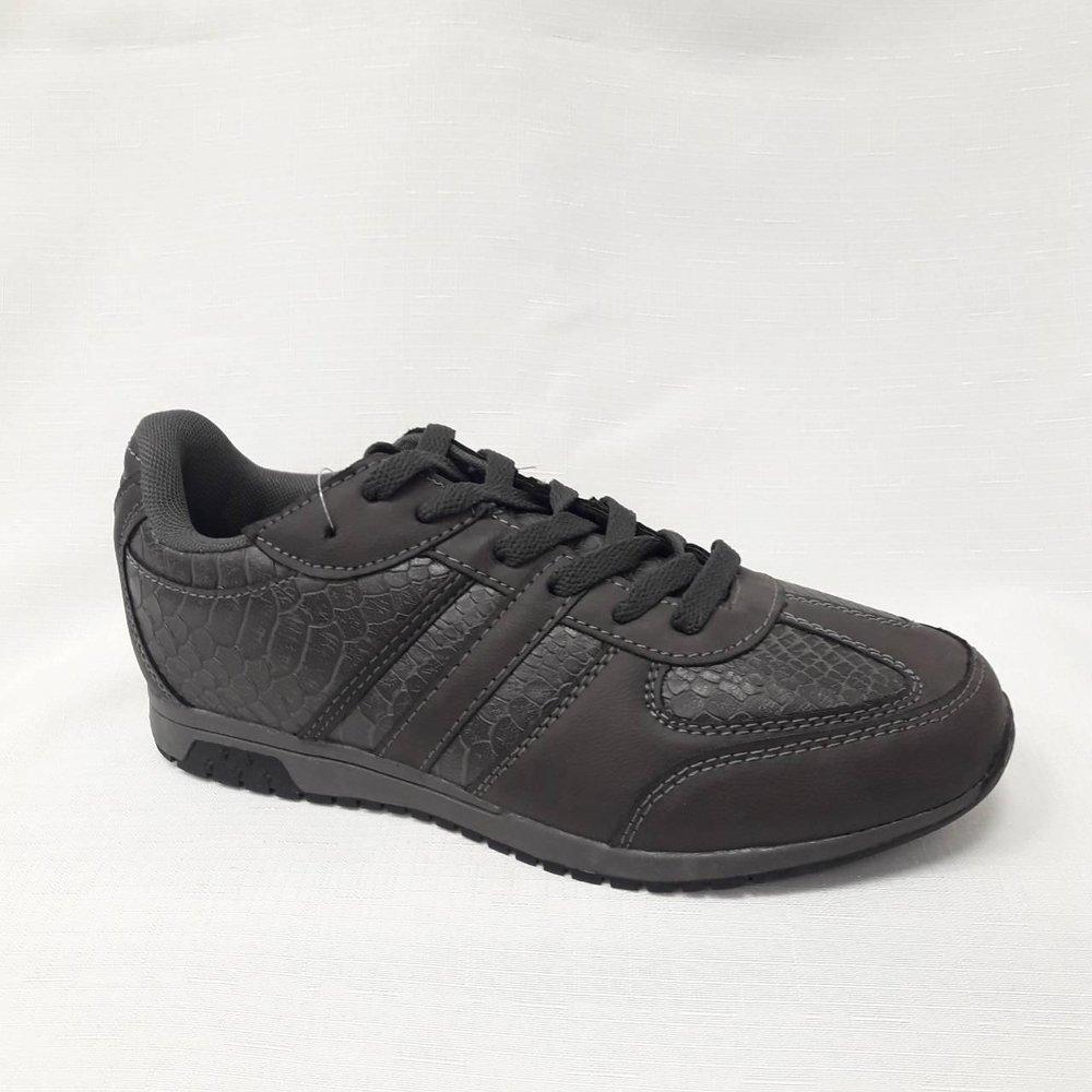 Сиви юношески спортни обувки.