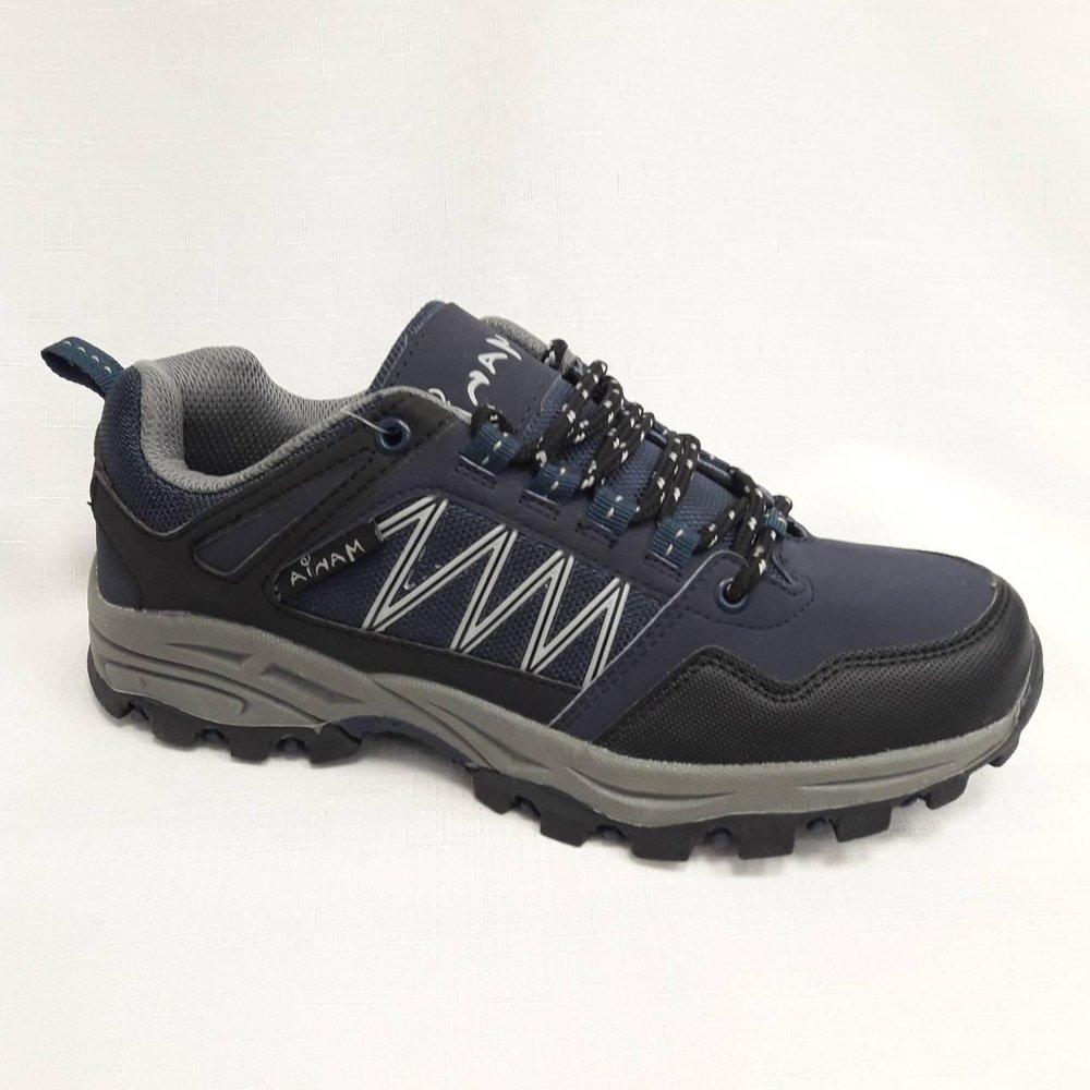 Сини юношески спортни обувки с грайфер.