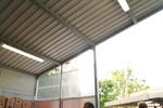 производство на навес от метал за пазарен павилион
