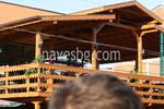 дървени навеси за ресторанти в битов стил