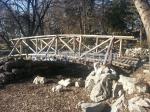 дървен градински мост