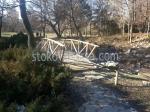 дървен мост за градината