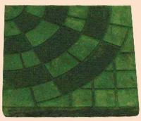 Зелени тротоарни плочки