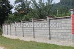 огради с бетонови тухли