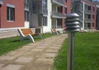 Пейка с бетон за парк