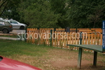 Дървена ограда за обществена градинка по поръчка