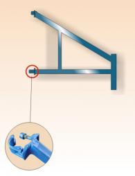 Стабилизатор за скеле с монтирани захвати