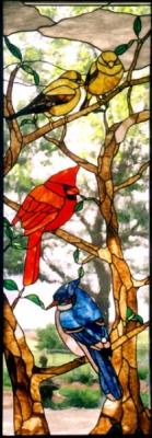 Стъклени витражи Птички