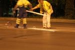 Полагане на пътна маркировка
