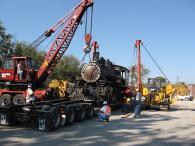 Преместване на нестандартен товар - старинен влак