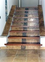 Изработка на стъпала с облицовка от мрамор
