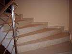Проект за стълби с травертинова облицовка