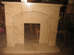 Изработка на камина от травертин