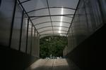 навес поликарбонатен за подземен гараж