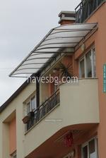 навеси поликарбонатни за балкони