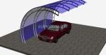 по-поръчка изработка на навес от поликарбонат за един автомобил