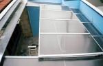изграждане на плоски навеси от поликарбонат