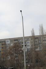 Метален стълб за улично осветление