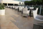 Красота и завършеност на обзавеждането в хотел с уникални бетонни кашпи