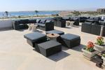Луксозни бетонни кашпи за хотели за тераси и балкони на хотел