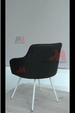 тъмни  офис кресла в кожа или дамаска